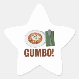 Gumbo Meal Star Sticker
