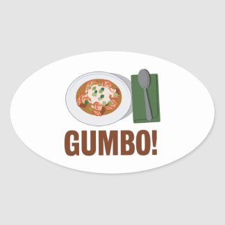 Gumbo Meal Oval Sticker