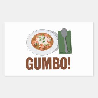 Gumbo Meal Rectangular Sticker