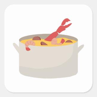 Gumbo Pot Square Sticker