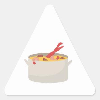 Gumbo Pot Triangle Sticker