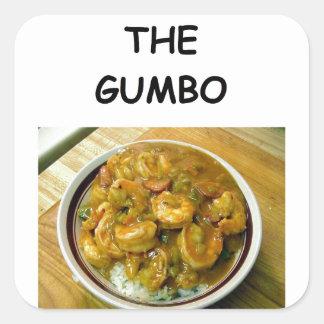 gumbo square sticker