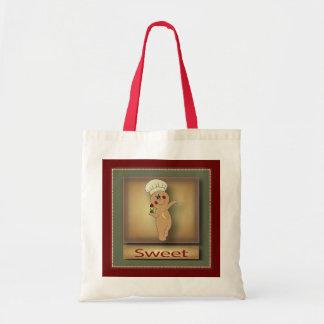 Gumdrop Gingerbread Man Budget Tote Bag