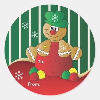 Gumdrop Gingerbread Round Sticker