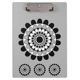 Gumdrop Motif in Gray Design Clipboard