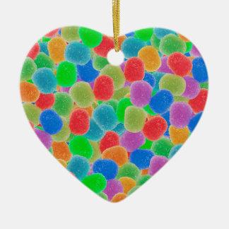 Gumdrops Ceramic Heart Decoration