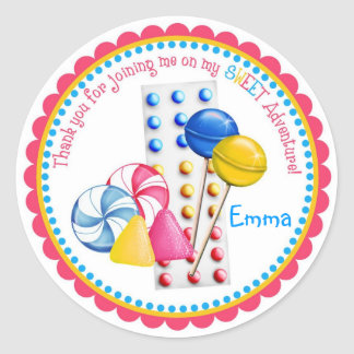 Gumdrops, Lollipops and Candy Buttons Stickers