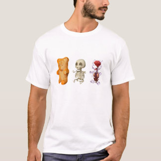 Gummi Bear Anatomy Triptic WHITE T-Shirt