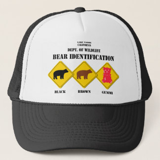 Gummi Bear Warning - Tahoe Wildlife Trucker Hat
