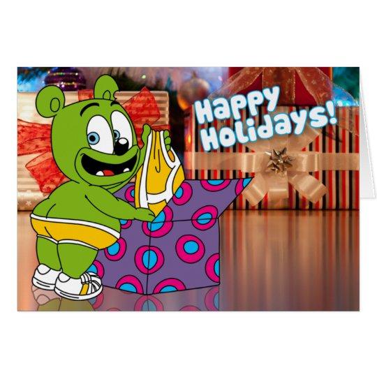 Gummibär Happy Holidays Christmas Underwear Card
