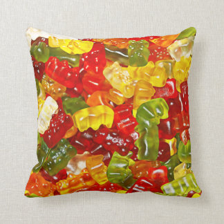Gummy Bear Candy Throw Pillow