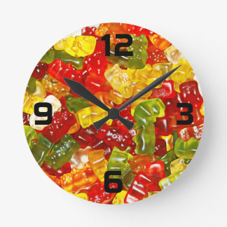 Gummy Bear Candy Wall Clock