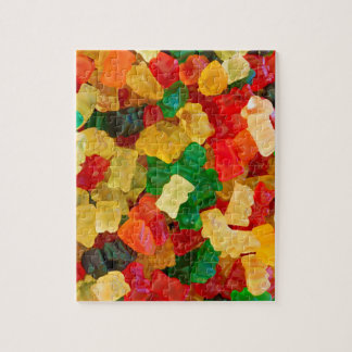 Gummy Bear Rainbow Colored Candy Jigsaw Puzzle