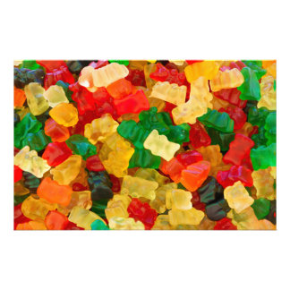 Gummy Bear Rainbow Colored Candy Stationery
