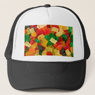 Gummy Bear Rainbow Colored Candy Trucker Hat
