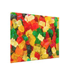 Gummy Bear Rainbow Coloured Candy Stretched Canvas Print
