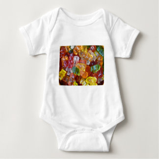 Gummy Bears Background Baby Bodysuit