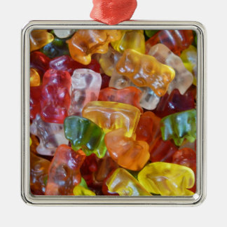 Gummy Bears Background Christmas Ornament