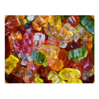 gummy candy yummy postcard