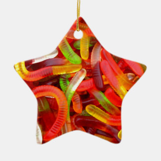 Gummy Worm Ceramic Star Decoration