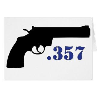 **GUN .357** GREETING CARD