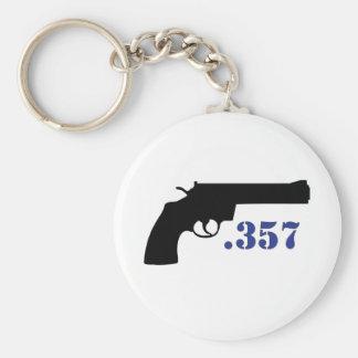 **GUN .357** BASIC ROUND BUTTON KEY RING