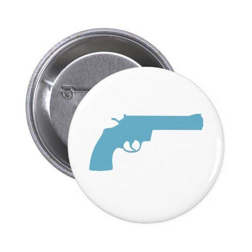 Gun 6 Cm Round Badge