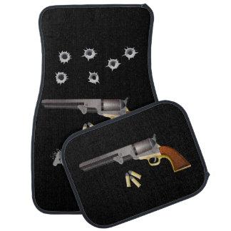 Gun and Bullets Monogrammed Car Mat