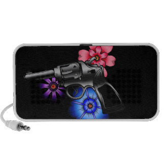 gun and flowers travel speakers