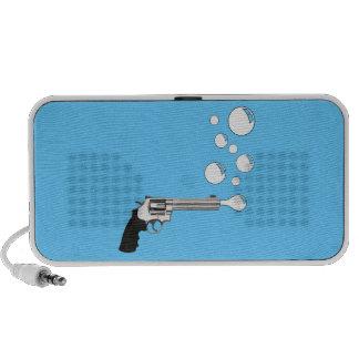 Gun Blowing Bubbles Laptop Speakers
