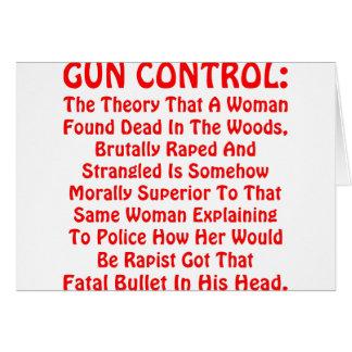 Gun Control A Woman Found Dead In The Woods Card