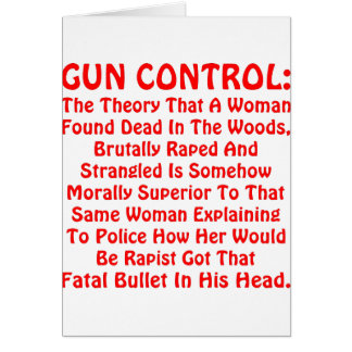 Gun Control A Woman Found Dead In The Woods Greeting Card