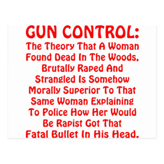 Gun Control A Woman Found Dead In The Woods Postcard