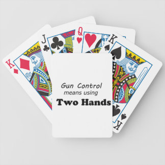 Gun Control Bicycle Poker Cards