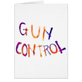 Gun control greeting cards
