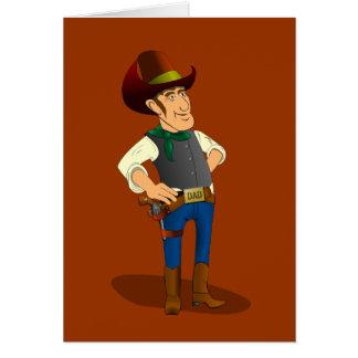 Gun Control Debate, Cowboy Greeting Card