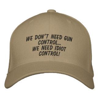 gun control embroidered baseball cap