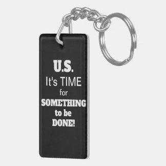 Gun Control in U.S. keychain