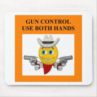 gun control joke mouse mats