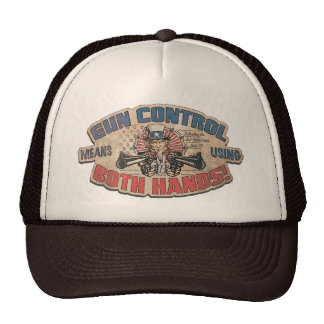 Gun Control Means Two Hands Retro Cap