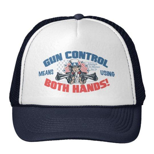 Gun Control Means Using Both Hands Pro Gun Gear Cap