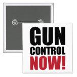Gun control now 15 cm square badge