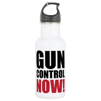 Gun control now 532 ml water bottle