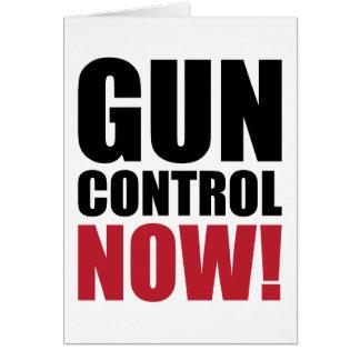 Gun control now greeting card