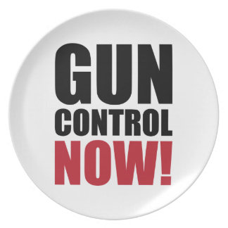 Gun control now plate