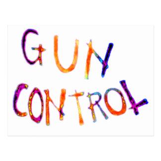Gun control post card