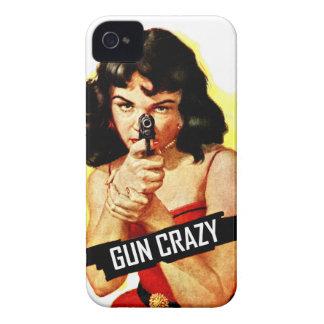 Gun Crazy Babe iPhone 4 Cover