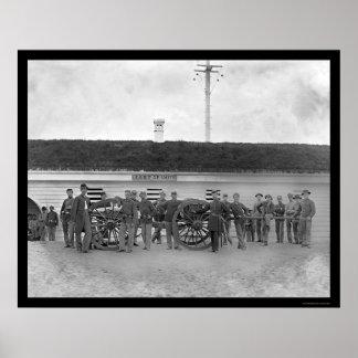 Gun Crew of Company K in Fort C. F. Smith, VA 1865 Poster