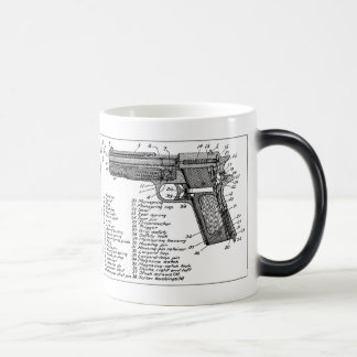 Gun Diagram Magic Mug