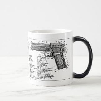 Gun Diagram Morphing Mug